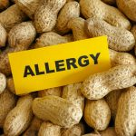 Peanut allergy. Conceptual image.